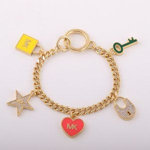 Michael Kors Enamel Glazed Love Drop Bracelets